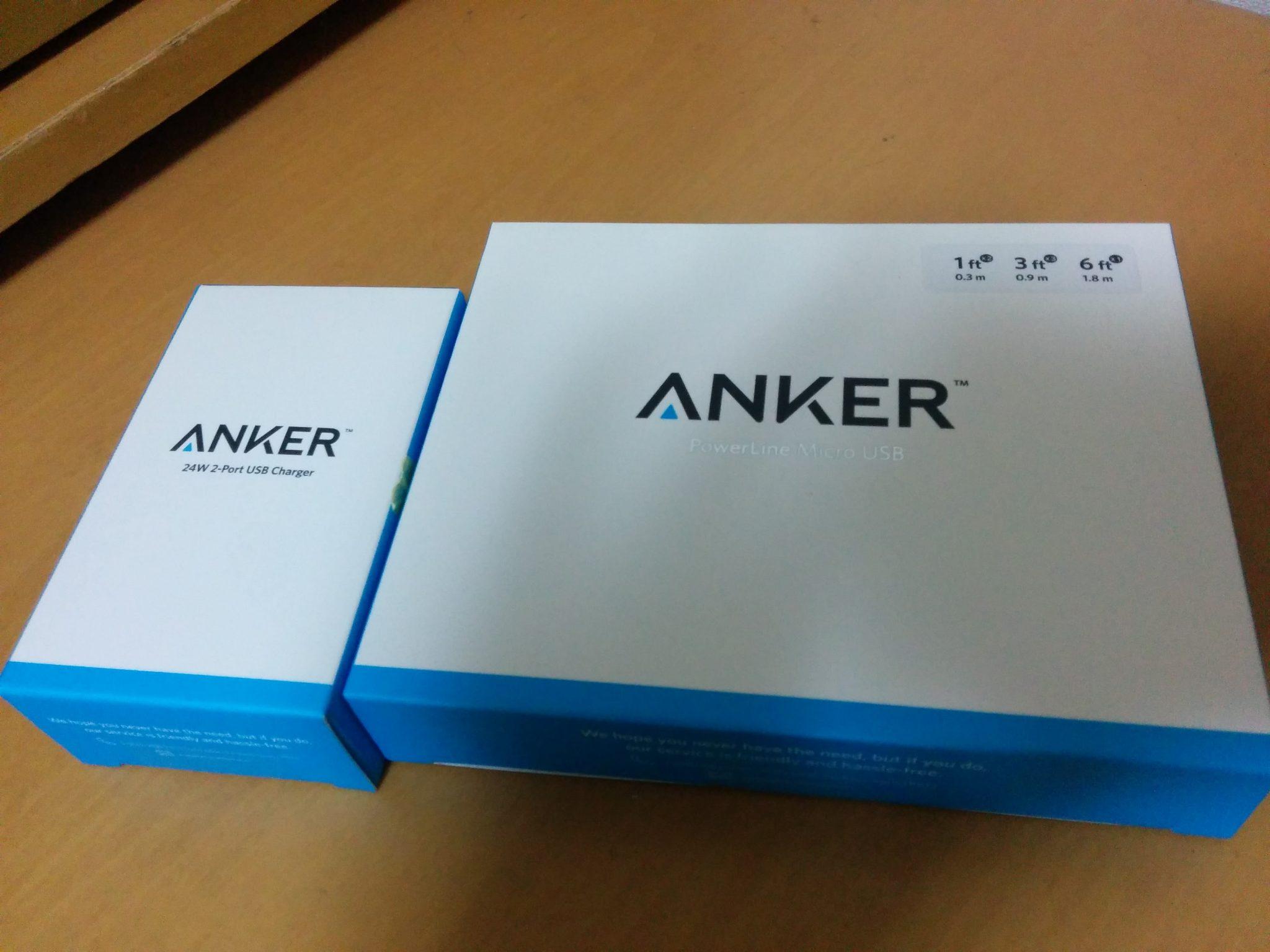 【レビュー】一辺に急速充電!ANKER製のマルチポート充電器と長さ別のマイクロUSBセット