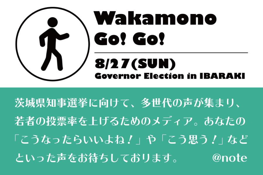 茨城県知事選挙に向けた「Wakamono Go! Go!」が立ち上がりました!