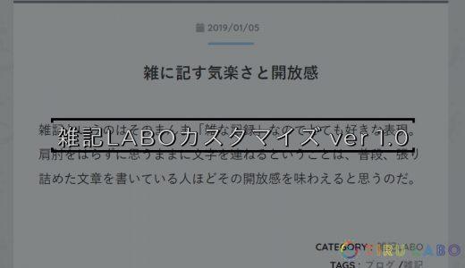 TIRU LABO「雑記LABO」のカスタマイズ ver 1.0